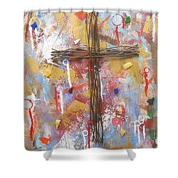 Oh Heavenly Father Shower Curtain