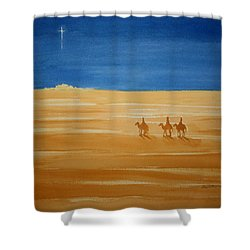 Oh Holy Night Shower Curtain by Stacy C Bottoms