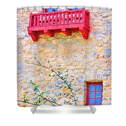 Oh Romeo Shower Curtain by Marilyn Diaz
