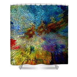 Oh The Joys Of Santa's Toys Shower Curtain by Lisa Kaiser