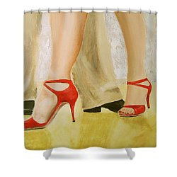 Oh Those Red Shoes Shower Curtain