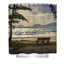 Shower Curtain featuring the photograph Oahu Sunrise by Steven Sparks
