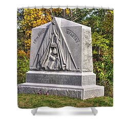 Ohio At Gettysburg - 29th Ohio Volunteer Infantry Autumn Mid-afternoon Culp's Hill Shower Curtain by Michael Mazaika