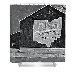 Ohio Barn In Winter Shower Curtain by Dan Sproul