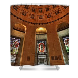 Ohio Stadium Shower Curtain by David Bearden