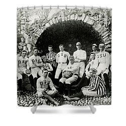 Ohio State Football Circa 1890 Shower Curtain by Jon Neidert