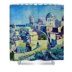 OIA Shower Curtain by Ana Maria Edulescu