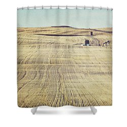 Oil And Gas Activity Among Shower Curtain by Roberta Murray
