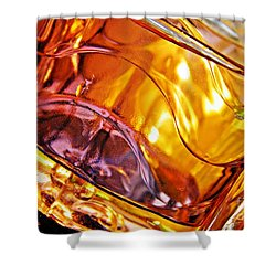 Oil And Water 13 Shower Curtain by Sarah Loft