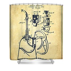 Oil Can Patent From 1903 - Vintage Shower Curtain by Aged Pixel