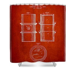 Oil Drum Patent Drawing From 1905 Shower Curtain by Aged Pixel