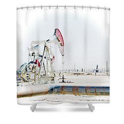 Oil Field Shower Curtain