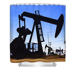 Oil Fields Shower Curtain by Chuck Staley