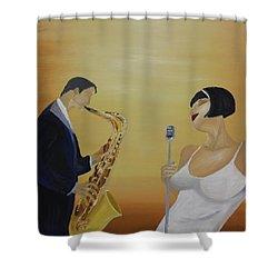 Oil Msc 001  Shower Curtain