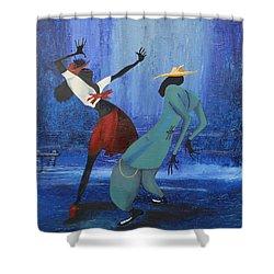 Oil Msc 017  Shower Curtain