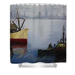 Oil Msc 025  Shower Curtain