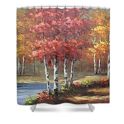 Oil Msc 049 Shower Curtain