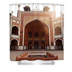 Oil Painting - Cross Section Of Humayun Tomb Shower Curtain