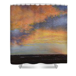 Oil Painting When The Sky Turns Color Shower Curtain