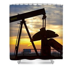 Oil Pump Sunrise Shower Curtain
