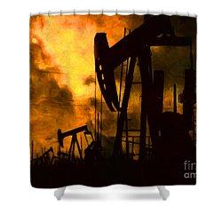 Oil Pumps Shower Curtain