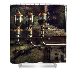 Oil Valves Shower Curtain