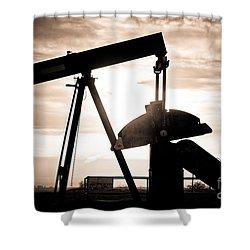 Oil Well Pump Shower Curtain