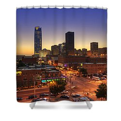 Oklahoma City Nights Shower Curtain