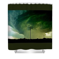 Oklahoma Mesocyclone Shower Curtain by Ed Sweeney