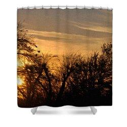 Oklahoma Sunset Shower Curtain by Jeffrey Kolker