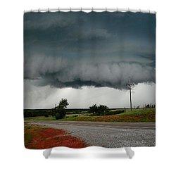 Oklahoma Wall Cloud Shower Curtain by Ed Sweeney