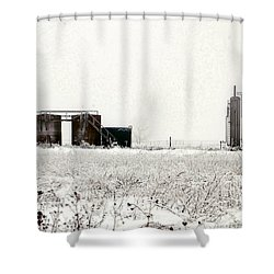 Oklahoma Wellsite Shower Curtain