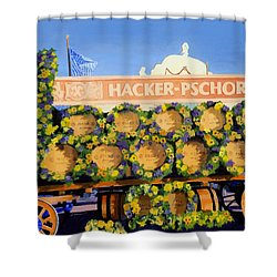 Shower Curtain featuring the painting Oktoberfest by Lynne Reichhart