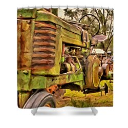 Ol' John Deere Shower Curtain by Michael Pickett