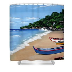 Olas De Crashboat Shower Curtain