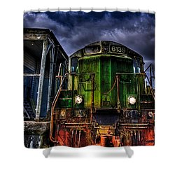 Shower Curtain featuring the photograph Old 6139 Locomotive by Thom Zehrfeld