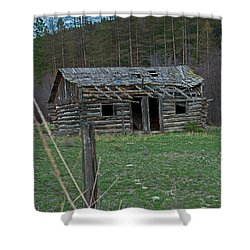 Shower Curtain featuring the photograph Old Abandoned Homestead Cabin Art Prints by Valerie Garner