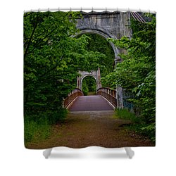 Old Alexandra Bridge Shower Curtain by Rod Wiens