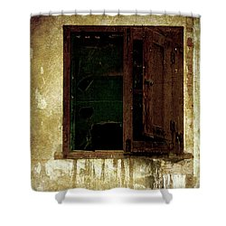 Old And Decrepit Window Shower Curtain by RicardMN Photography