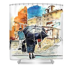 Old And Lonely In Portugal 03 Shower Curtain by Miki De Goodaboom
