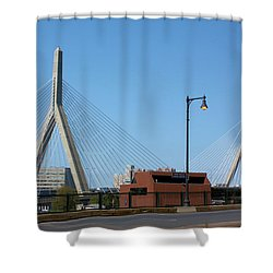 Old And New Boston Shower Curtain by Kristin Elmquist