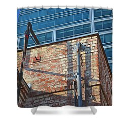 Old And New Los Angeles Shower Curtain by Bill Owen
