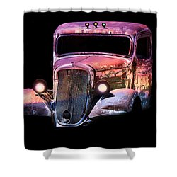 Old Antique Classic Car Shower Curtain