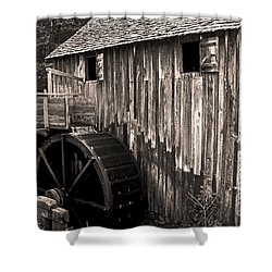 Old Appalachian Mill Shower Curtain by Paul W Faust -  Impressions of Light