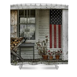 Old Apple Orchard Porch Shower Curtain