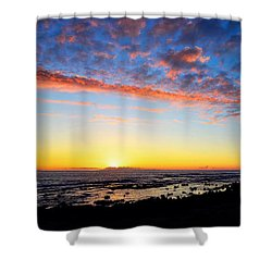 Shower Curtain featuring the photograph Old A's Panorama by David Lawson