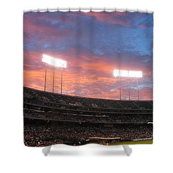 Old Ball Game Shower Curtain by Photographic Arts And Design Studio