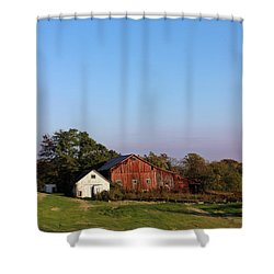 Old Barn At Sunset Shower Curtain
