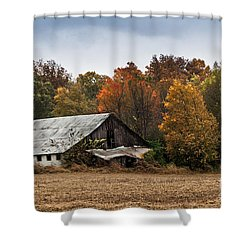 Shower Curtain featuring the photograph Old Barn by Debbie Green