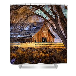 Old Barn In Sparks Shower Curtain